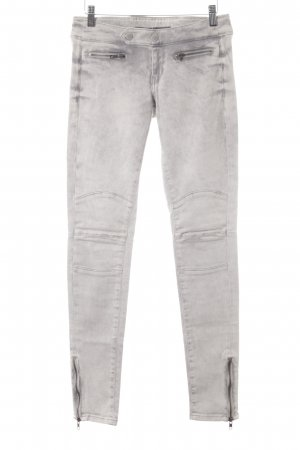 Guess Stretch Jeans hellbeige-grau Biker-Look