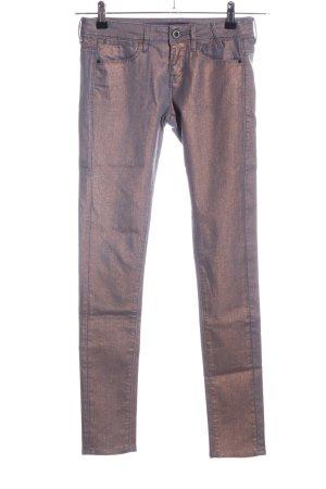 Guess Pantalone elasticizzato argento stile stravagante