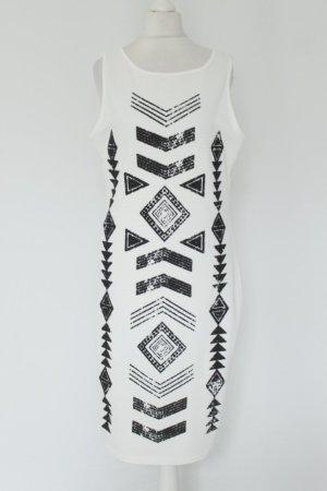 Guess Stretchkleid Kleid Gr. L black & white