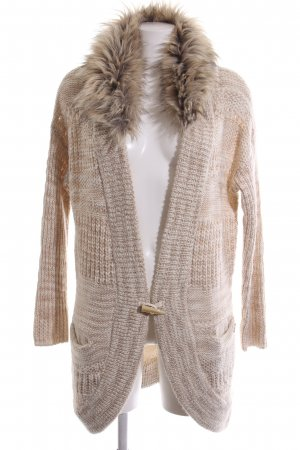 Guess Strick Cardigan nude Zopfmuster Casual-Look