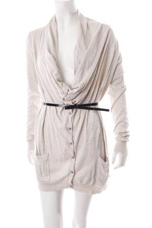 Guess Strickjacke beige-grau meliert schlichter Stil