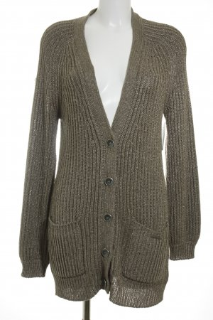 Guess Strickjacke grüngrau Casual-Look