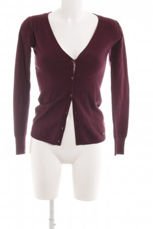 Guess Strickjacke purpur Casual-Look