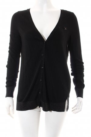 Guess Strickjacke schwarz Casual-Look
