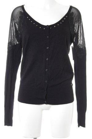 Guess Strickjacke schwarz-silberfarben Elegant