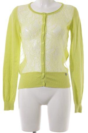 Guess Giacca in maglia verde prato-giallo neon stile stravagante