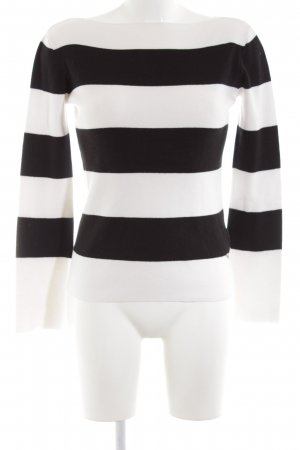 Guess Knitted Sweater black-white striped pattern casual look