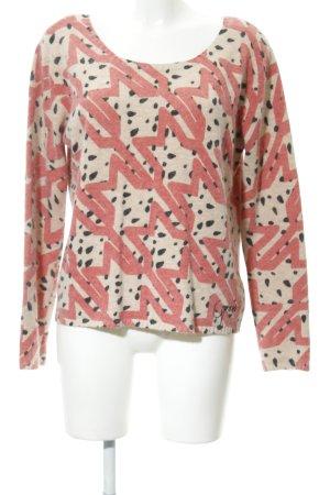 Guess Maglione lavorato a maglia beige-rosa motivo astratto soffice