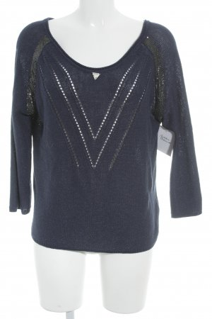 Guess Strickpullover dunkelblau Casual-Look
