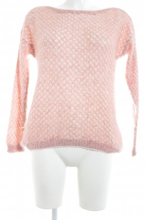 Guess Strickpullover rosé-nude Lochstrickmuster Casual-Look