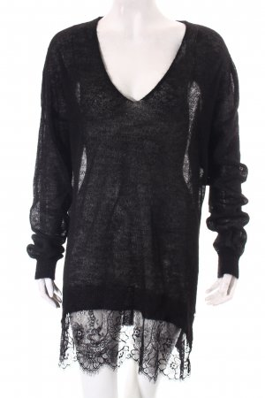 Guess Strickpullover schwarz Casual-Look