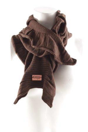 Guess Gebreide sjaal donkerbruin casual uitstraling