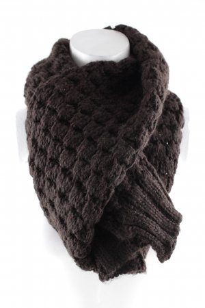 Guess Knitted Scarf dark brown fluffy
