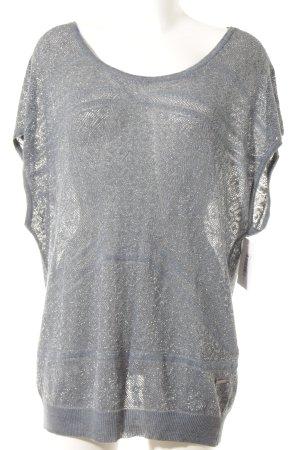 Guess Camisa tejida gris pizarra modelo de punto flojo look casual