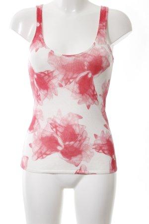 Guess Haut tricotés blanc-rouge motif abstrait style décontracté