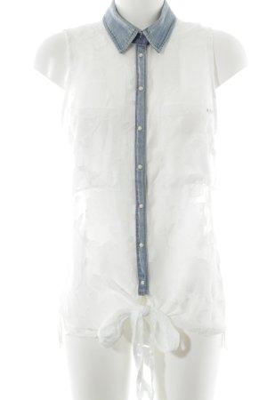Guess Top lavorato a maglia grigio ardesia-bianco motivo floreale stile casual