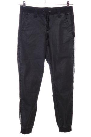Guess Joggingbroek zwart-zilver casual uitstraling