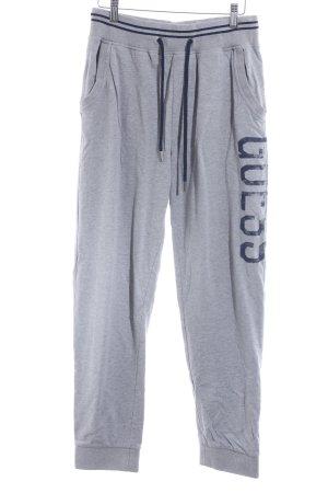 Guess Pantalone fitness grigio chiaro-blu scuro stile casual