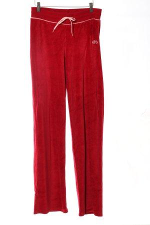Guess Joggingbroek rood geborduurde letters casual uitstraling