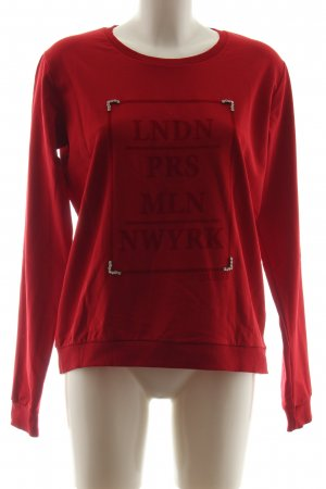 Guess Suéter rojo look casual