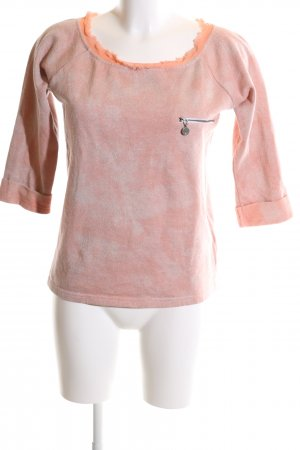 Guess Sweat Shirt light orange-nude allover print casual look