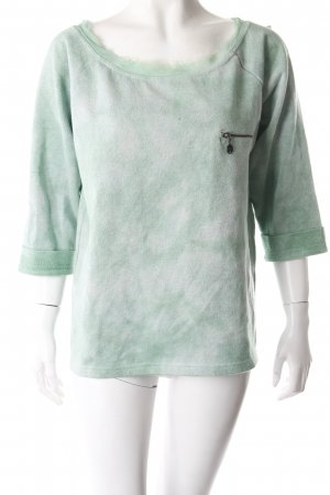 Guess Sweatshirt grün Glitzeroptik