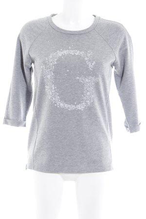 Guess Felpa grigio chiaro Stampa a tema stile casual