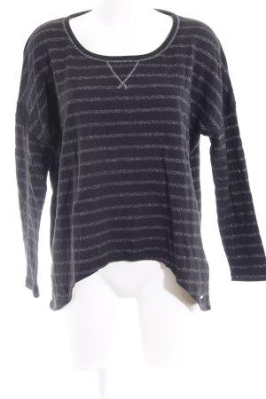 Guess Sweatshirt taupe-silberfarben Streifenmuster Casual-Look