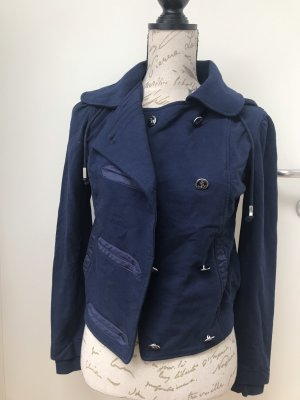 Guess Jeans Hooded Vest dark blue
