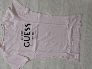 Guess T-shirt rosa pallido-nero