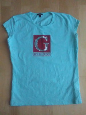 Guess T-Shirt light blue-red synthetic