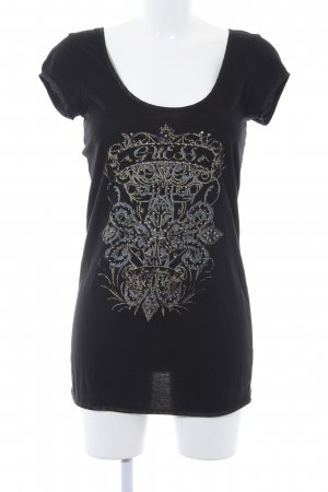 Guess Camiseta estampado abstracto estilo punk