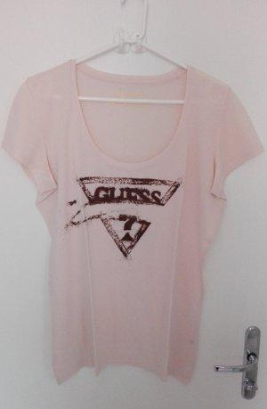 Guess T-Shirt apricot mit Glitzerdruck