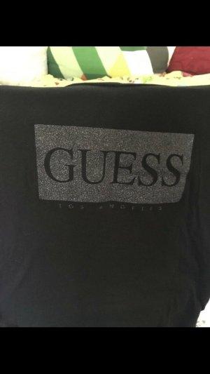 Guess Print Shirt black-silver-colored