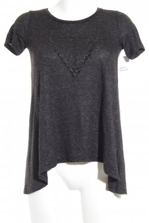 Guess Camiseta gris oscuro look casual