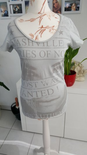 Guess T-shirt bianco-grigio chiaro