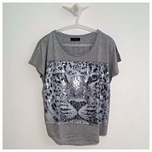 GUESS, T-Shirt, Frontprint mit Pailletten