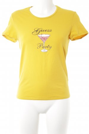Guess T-Shirt goldorange Motivdruck Casual-Look