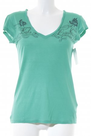 Guess Camiseta verde look casual