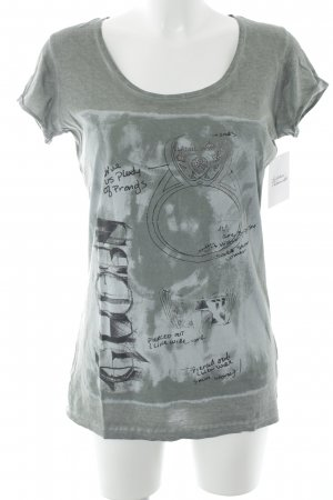 Guess T-Shirt grüngrau Casual-Look