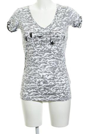 Guess Camiseta gris claro-blanco estampado de animales estampado animal