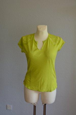 Guess Camiseta amarillo limón Algodón