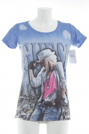 Guess T-Shirt Motivdruck Casual-Look