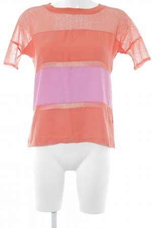 Guess Camiseta naranja neón-rosa bloques de color estilo deportivo