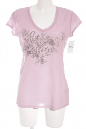 Guess Camiseta rosa look casual