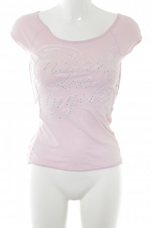 Guess T-shirt rosa stile atletico