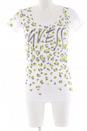 Guess Camiseta letras impresas estampado animal