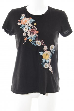 Guess Camiseta negro estampado floral look casual