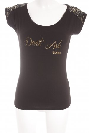 Guess T-Shirt schwarz Casual-Look
