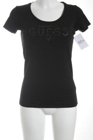 Guess Camiseta negro look casual